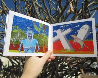 Nayboors handmade art book by Karel Livingware