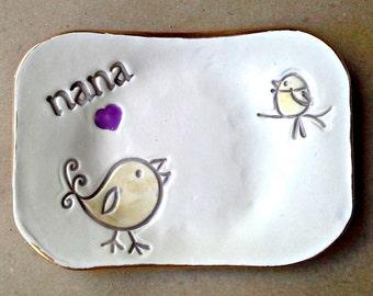 NANA Trinket  Dish 1 Birdy  Mothers day