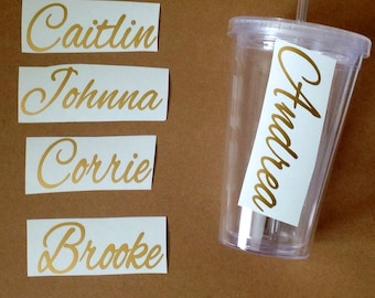 DIY Personalized Bride and Groom Vinyl Decals Make Your Own Wedding Tumblers