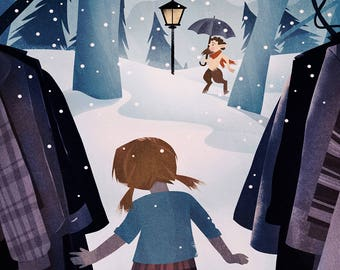 Narnia Poster - Kid Wall Art - The Lion, The Witch, The Wardrobe