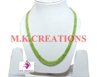 30% Off, Natural Peridot Beads 2 Strand Necklace, Multistrand Necklace, Beaded Layered Necklace, Statement Necklace, Christmas Gift