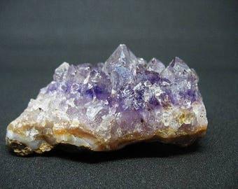 Amethyst crystal cluster, Uruguay amethyst, purple stone cluster, February birthstone, stone paper weight, EA10