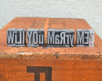 Will you marry me - Vintage letterpress - Valentine's day gift - engagement, marriage proposal TS1003 - free shipping in US