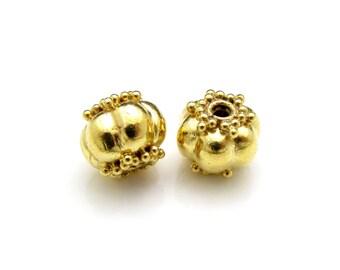 1 Pc, 24K Gold Vermeil Bead