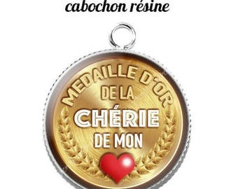 20 mm resin cabochon pendant medal sweetheart... 11