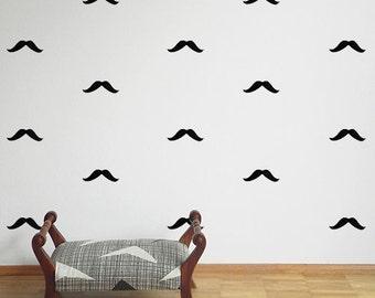 Mustache wall stickers - Moustache - Wall stickers - Set of 26
