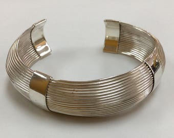 Vintage 925 Sterling Silver Cuff Bracelet!!!   Free US Shipping!!!