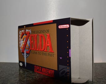 The Legend of Zelda: A Link to the Past Super Nintendo SNES Reproduction Box! Best Repros in the world!