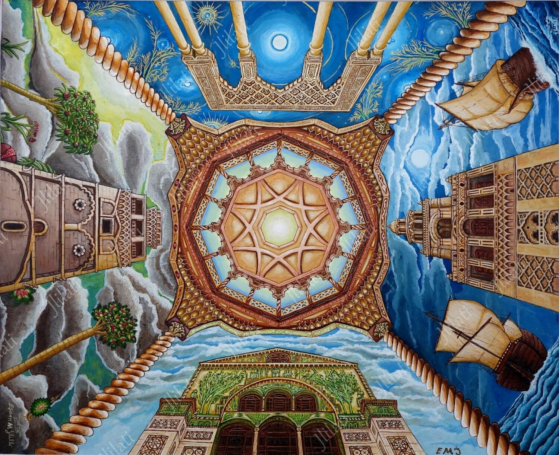 Original Painting Islamic Art Architecture Islam Muslim # Muebles German Cordoba Capital