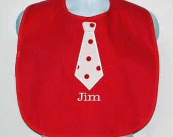 Adult Bib With Tie, Custom Funny Adult Bib, Canvas, Clothing Protector, Personalized With Name, No Shipping Fee, Ready To Ship TODAY 804