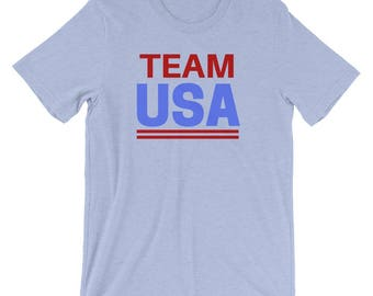 Team USA T-Shirt (Unisex) | winter olympics, team usa, usa, olympians, 2018 winter olympics, america, PyeongChang