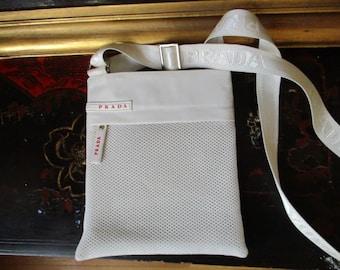 Prada white messenger bag