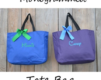 7 Personalized Bridesmaid Gift Tote Bag, Embroidered Tote, Monogrammed Tote, Bridal Party Gift