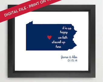 Penn State Happy Print - Personalized - Digital File - Printable - Print on your Own!