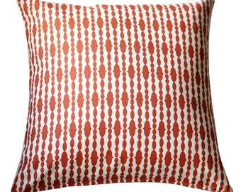 Organic Pillow Cover - Raindrops Mandarin