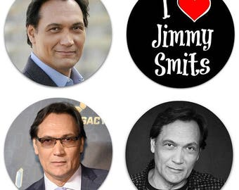 "Jimmy Smits Set Of 4 Large 2.25"" Pinback Buttons Or Magnets"