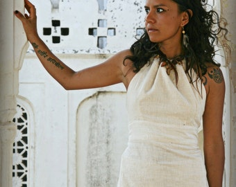 SALE:Handwoven Khadi Neckholder Top by GayariTribalCrafts