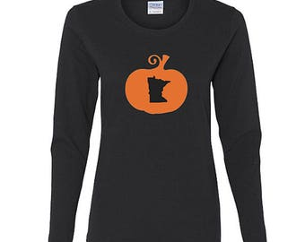 Minnesota Halloween Shirt, Womens Long Sleeve