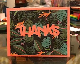 Thanks Greeting Card (blank inside)