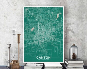 Canton ohio map Etsy