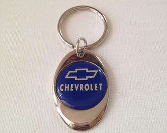 Chevrolet Keychain Chrome Plated Solid Metal Chevy Key Chain