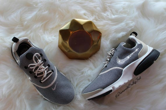 Sneakers Clear Presto Blinged Swarovski Custom Nike Shoes Fly With Nike  Brown White Bling Authentic amp  Crystals Swarovski Women s Out fR7x00 87f76f28c91e