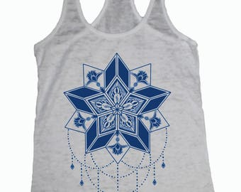 Women's STARFLYER Tank Sacred Geometry Tattoo 5 pointed star Chandelier shirt