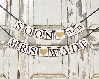 Engagement Banner, Soon to Be Banner, Engagement Party Decor, Rustic, Glitter Engagement Party, Wedding Reception, Couples Shower