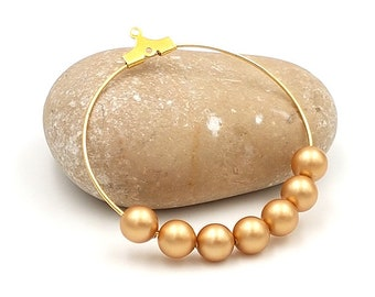 25 6mm Pearl Crystal Vintage Gold Swarovski pearls