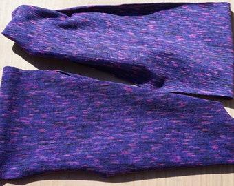 Purple Space Dye Fitness Headband/Yoga Headband/Exercise Headband/Workout Headband