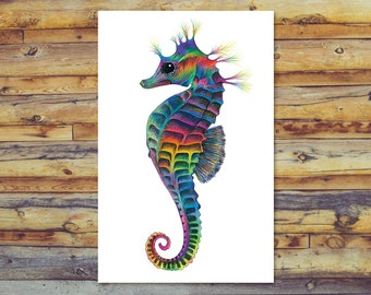Blank Cards, Seahorse Printable Greeting Cards, All Occasion Cards, Digital Download, Instant Download, Blank Greeting Cards, Seahorse Art