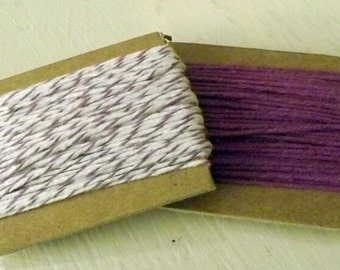 Plum Divine Twine and Solid Purple Divine Twine 10 yards each 20 yards total