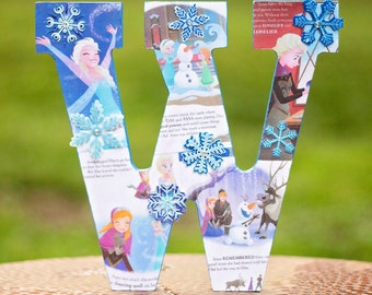 Frozen - Elsa & Anna - Disney Princess Book Inspired Decorated Letters