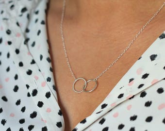 Mini Linked Circle Necklace - Sterling Silver | Valentine's Gift | birthday | simple necklace | minimal jewellery | infinity | mother's day
