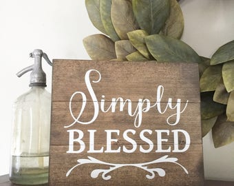 wooden blessed sign
