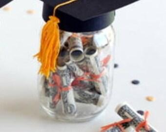 graduation Cap Mason Jar Lid