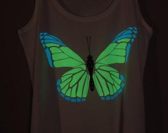 Butterfly Glow-in-the-dark Woman Tank top