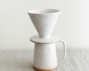 Wake Pour Over Set - Handmade pottery mug for brewing coffee