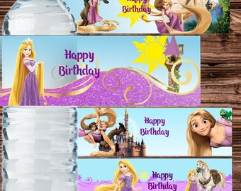 Rapunzel Water Bottle Label Princess Rapunzel Bottle Label Tangled Labels Rapunzel Water Bottle Stickers Rapunzel Birthday Party Rapunzel