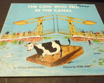The Cow Who Fell in The Canal- Childrens book- 1975- by Phyllis Krasilovsky