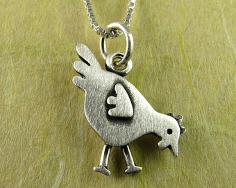 Tiny chicken necklace / pendant