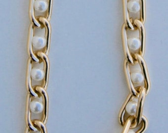 Gold Chain Pearl Anklet