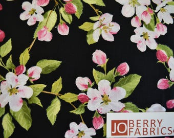 Apple Blossom Festival by Maria Kalinowski for Kanvas with Benartex.  Quilt or Craft Fabric, Fabric by the Yard.