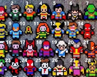 Comic Book and Video Game Pixel Art Magnets