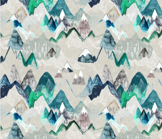 Mountain Fabric Quilting Fabric By The Yard Woodland Mountains