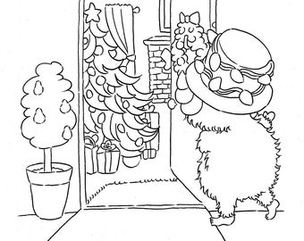The Christmas Yeti Coloring Book Simple