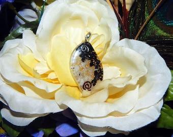 CHAKRA BALANCE Orgone pendant - Handcrafted gemstone Reiki Crystal Necklace - Black Tourmaline Quartz