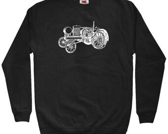 Tractor V2 Sweatshirt - Men S M L XL 2x 3x - Crewneck - Farming Sweatshirt, Farm Sweatshirt, Farm Equipment, Farmer Gift, Farming Art