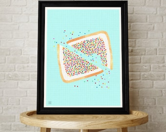 Fairy Bread, Sprinkles, Hundreds and Thousands, Aussie, Kids room, Wall Art, Rainbow, Kids Art, Illustration, Aussie Icon, Kids Wall Art