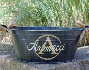 etsy il house closing bucket market wedding beverage personalized gift tub realtor metal ice